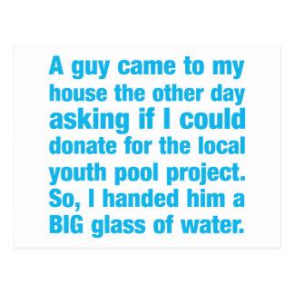 Donación del proyecto de la piscina de la juventud postal