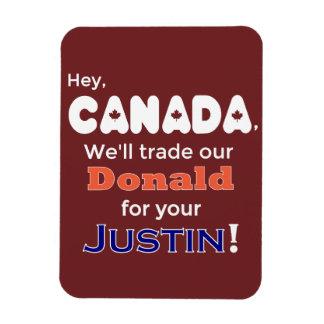 Donald comercial divertido para el imán de Justin