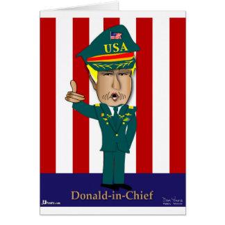 Donald-En-Jefe Tarjeta De Felicitación