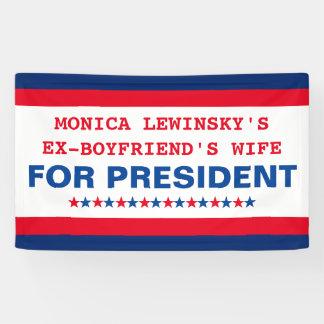 Donald Trump divertido para el presidente bandera Lona