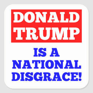 Donald Trump es pegatina nacional del blanco de la