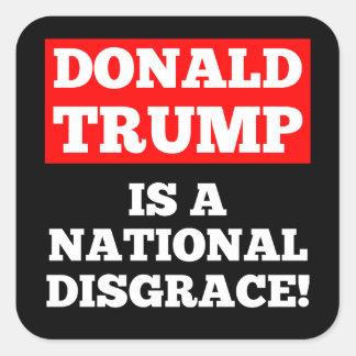 Donald Trump es pegatina nacional del negro de la