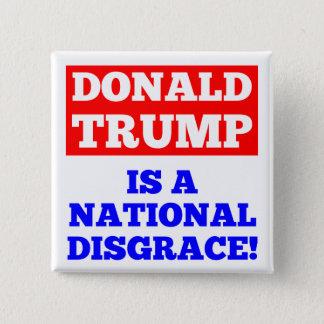 Donald Trump es un botón nacional del blanco de la