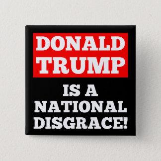 Donald Trump es un botón nacional del negro de la