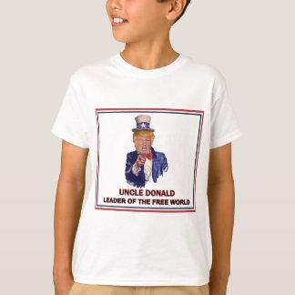 ¡Donald Trump/líder del tío Sam del mundo libre! Camiseta
