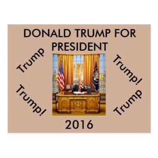 Donald Trump para la postal del presidente