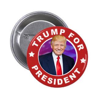 Donald Trump para presidente Photo Pinback Button Chapa Redonda De 5 Cm