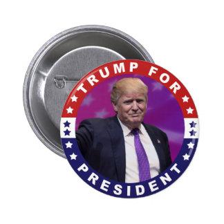 Donald Trump para presidente Photo Retro Button Chapa Redonda De 5 Cm