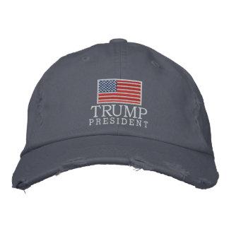 Donald Trump - presidente 2016 con la bandera Gorro Bordado