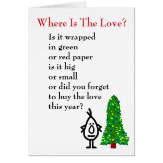 ¿Dónde está el amor? - mún) poema del navidad de a Tarjetas