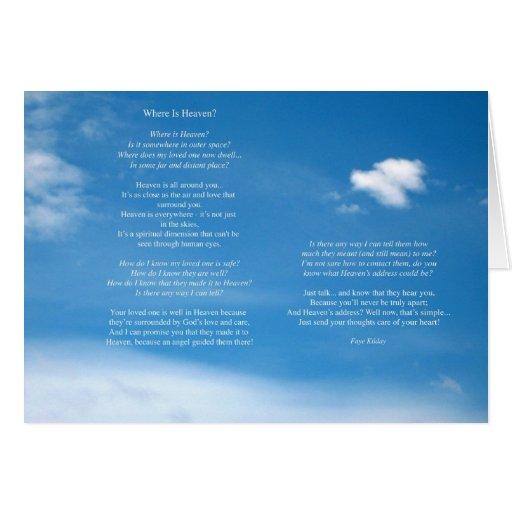 Donde está el poema del cielo felicitación