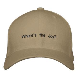 ¿Dónde está la alegría? Gorras Bordadas