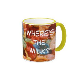 ¿Dónde está la leche? Taza De Café