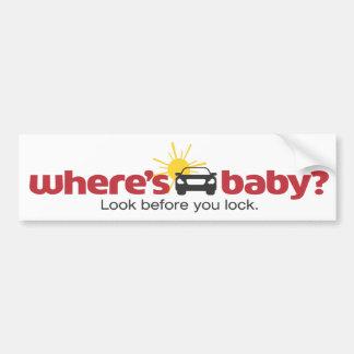 Donde está la mirada del bebé antes de que usted pegatina para coche
