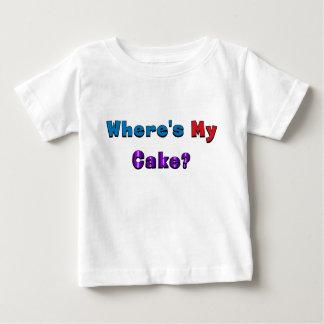 """""""Donde está mi torta?"""" camisa del bebé"""