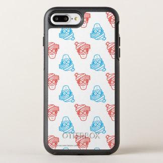 Donde está Waldo rojo y azul haga frente al modelo Funda OtterBox Symmetry Para iPhone 7 Plus