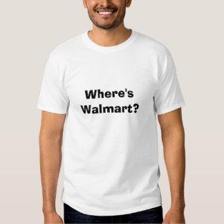 ¿Dónde está Walmart? Camisetas