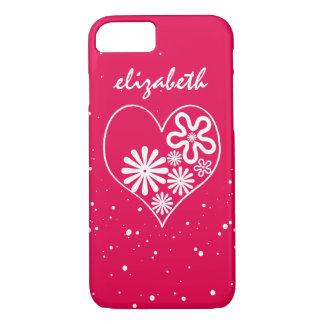 Donde hay amor hay vida. Corazón de la flor Funda iPhone 7