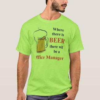 Donde hay cerveza - administrador de oficinas camiseta