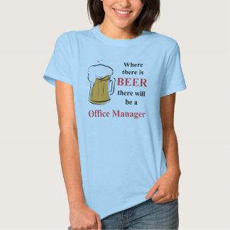 Donde hay cerveza - administrador de oficinas camisetas