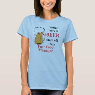 Donde hay cerveza - encargado de los alimentos de camiseta