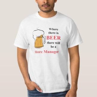 Donde hay cerveza - encargado de tienda camiseta