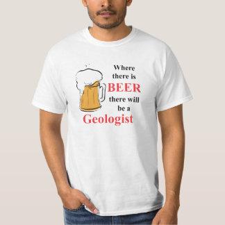 Donde hay cerveza - geólogo camiseta