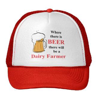 Donde hay cerveza - granjero de lechería gorro