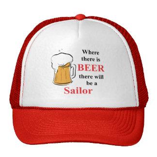 Donde hay cerveza - marinero gorras