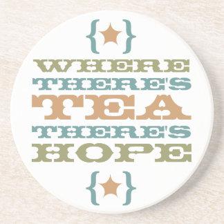 donde hay té hay práctico de costa de la esperanza posavasos diseño