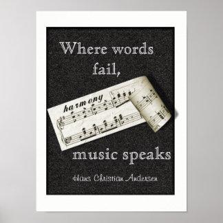 Donde las palabras fallan -- Arte del poster