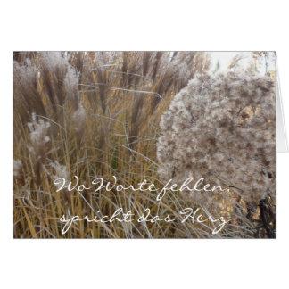 Donde palabras faltan tarjeta de pésame - (hierba