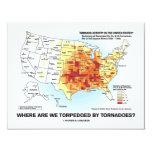 ¿Dónde tornados nos torpedeamos? Invitación 10,8 X 13,9 Cm