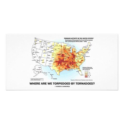 ¿Dónde tornados nos torpedeamos? Tarjeta Personal Con Foto