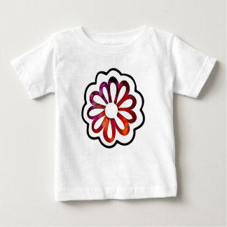 Doodle caprichoso del flower power camiseta de bebé