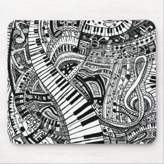 Doodle de la música clásica con el teclado de alfombrilla de ratón