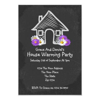Doodle de la pizarra del fiesta de la nueva casa comunicado personalizado