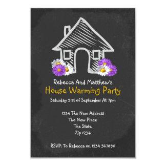 Doodle de la pizarra del fiesta de la nueva casa invitación 8,9 x 12,7 cm