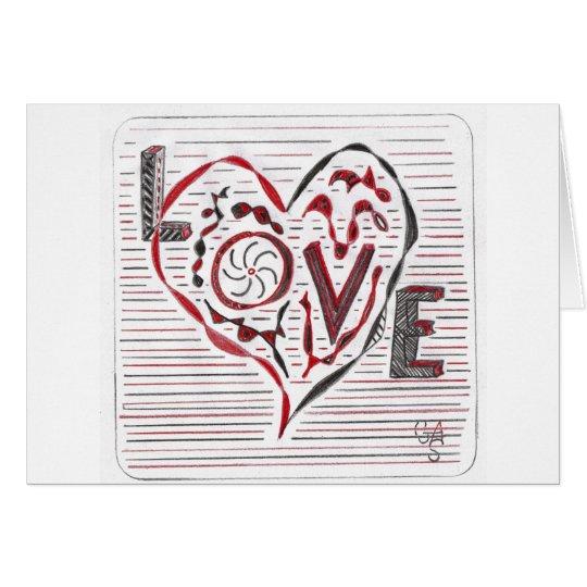 Doodle del amor tarjeta de felicitación