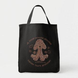 Doodle del caniche bolsa tela para la compra