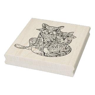 Doodle del Fox de Boho Sello De Caucho