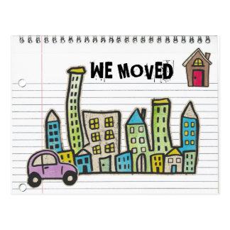 doodle dibujado mano postal