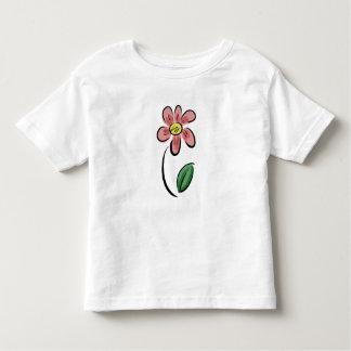 Doodle floral del bosquejo del dibujo animado camiseta de bebé