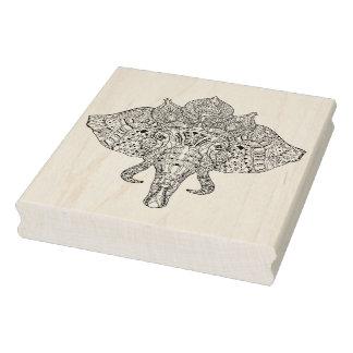 Doodle inspirado cabeza del elefante sello de caucho