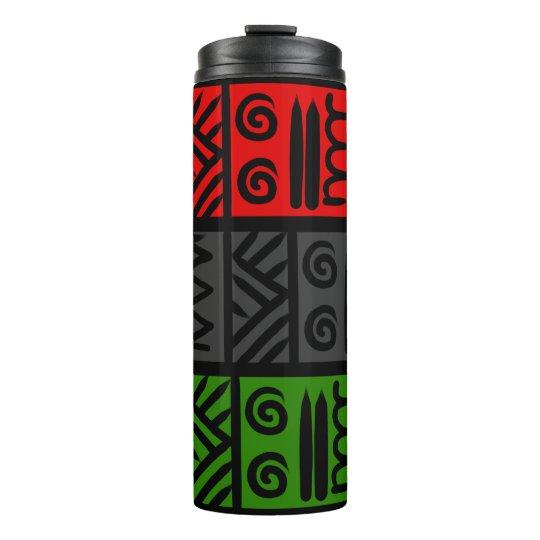 Doodle la taza inspirada impresión tribal del termo térmico