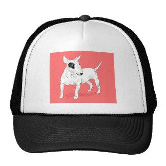 Doodle retro de bull terrier en fondo del gorras