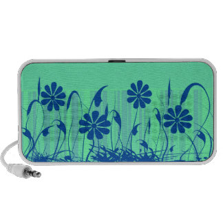 Doodle verde de la primavera iPod altavoz