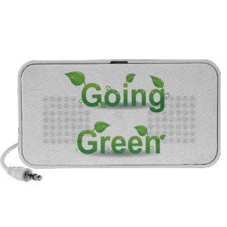 """Doodle """"verde"""" de las hojas que va notebook altavoces"""