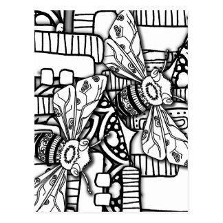 Doodles de la abeja postal