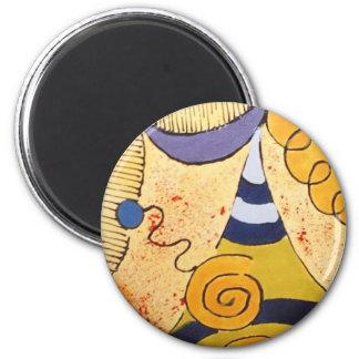 DooDles del amarillo de la mostaza Imán Redondo 5 Cm